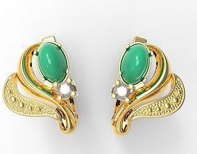 Cabochon Earrings 3D printable model