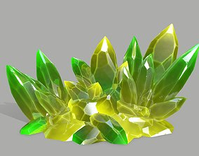 Crystal Set 3D model low-poly