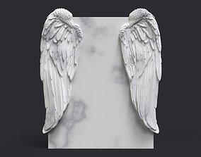 3D print model angel wing headstone