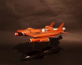 UFO Lunar module and Lunar Carrier 3D print model