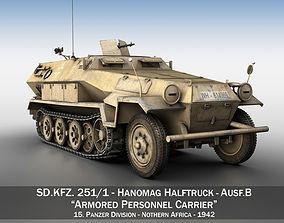 SD KFZ 251 1 Ausf B - Hanomag Halftruck DAK 3D