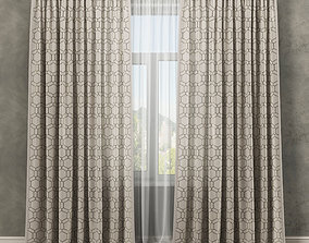 Curtains 3D satin