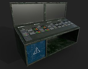 3D asset Control Panel with Monitor