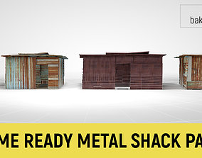 3D asset Corrugated Steel Shed - Rusty Metal Shack