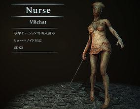 nurse 3D asset rigged realtime