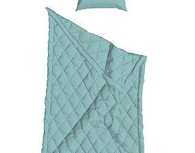 3D model Pillow and Blanket Marvelous designer