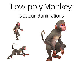 aniamted monkey 3D asset animated