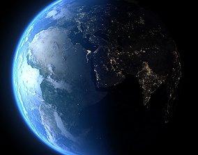 Earth in December 3D