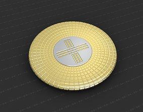 relief bronze 3D print model Cross Medallion