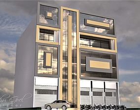 commercial building exterior nature 3D
