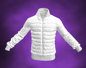 Down Sweater White Jacket 3D model