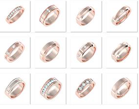 39 Men Groom Band Ring 3dm stl 24 render details