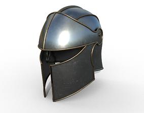 Knight Helmet 3D asset low-poly