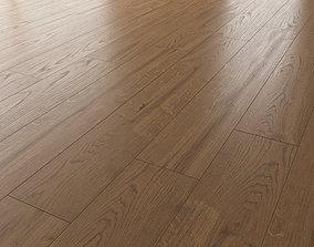 3D model Wood Floor Oak Black Walnut Sanded