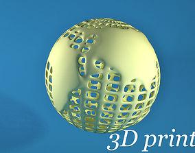 Globe for 3D printing