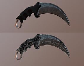 Karambit knife 3D model game-ready