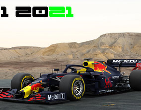F1 Redbull RB16B Season 2021 3D asset
