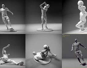 3D printable model Soccerers 5 STL Pack