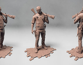 3D Simon Pegg as Nicholas Angel from Hot Fuzz movie