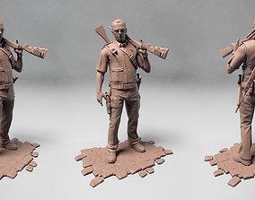 3D model Simon Pegg as Nicholas Angel from Hot Fuzz movie