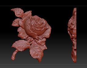 3D model flower rose sculpture