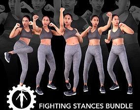 Fighting Stances Bundle 3D asset