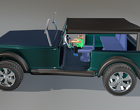 Jeep Wrangler For 3d Game game-ready