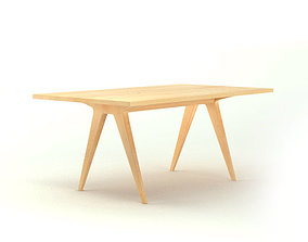 3D model Contemporary Wooden Table