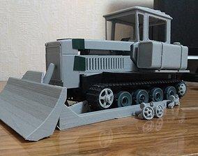 Soviet Tractor DT-75 printable 3D model transport