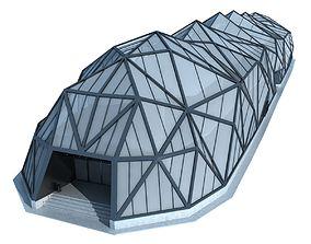 Modern Futuristic Building 3D
