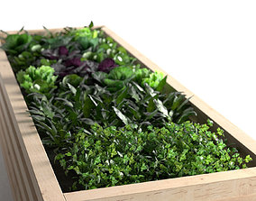 Timber Planter 3D model