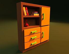 3D Cartoon Bookshelf