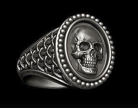 classic skull ring 3D print model