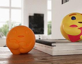 Facebook Care Reaction Emoji 3D printable model
