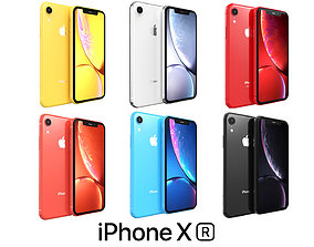 Apple iPhone XR Collection 3D model