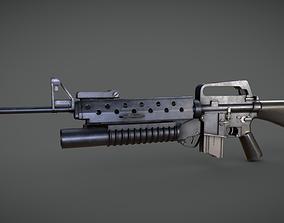 3D model M16 m203 Grenade Launcher
