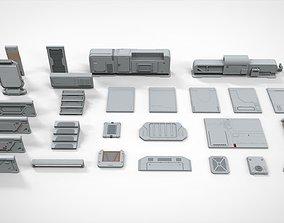 3D sci-fi Architecture kitbash 12