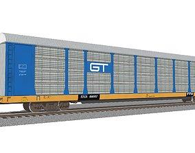3D Train Car - Car Carrier - GT Autorack