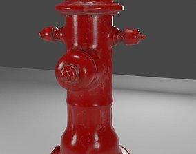 Realistic PBR Fire hydrant Traditional Red 3D model