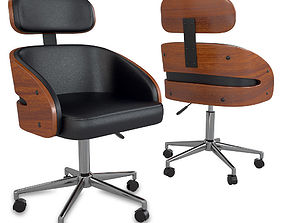 Kneppe Black Modern Office Chair 3D model