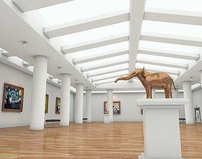 Art Gallery Interior 3D model