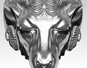 3D printable model Ram head animal goat detailed bust