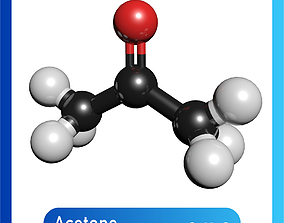 Acetone 3D Model C3H6O science
