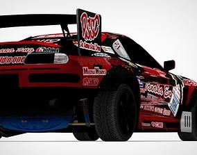Racing Car D1 Num 52 For Game 3D model