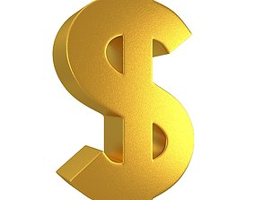 Dollar Gold Symbol 3D model