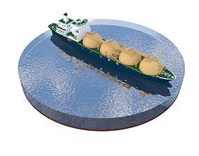 q-max Tanker Ship 3D