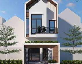 animated residental House design 3d model