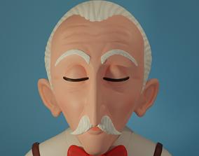 3D stylized Old man