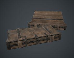 3D asset Wooden Weapon Case 2 PBR Game Ready