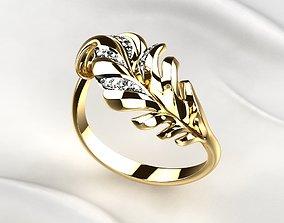 3D print model Gold Leaf Ring